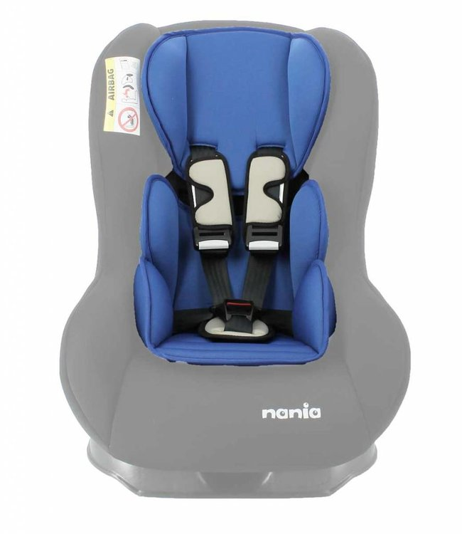 Nania Custo inlay pillow - Uni Blue
