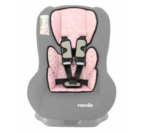 Nania Custo verkleinkussen - Groep 0/1 - Star Pink
