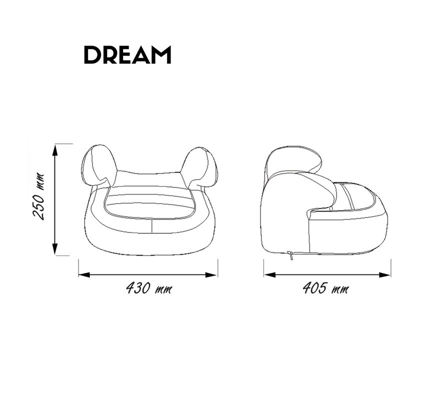 booster seat Dream - Group 2 and 3 - Pink
