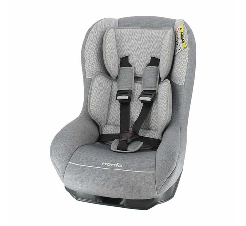 Nania Baby car seat Driver - Group 0 and 1 - Zig Zag Grey