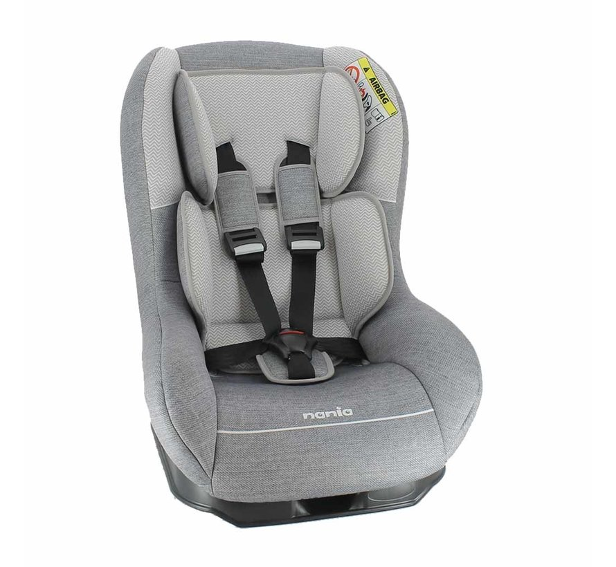 Baby car seat Driver - Group 0 and 1 - Zig Zag Grey