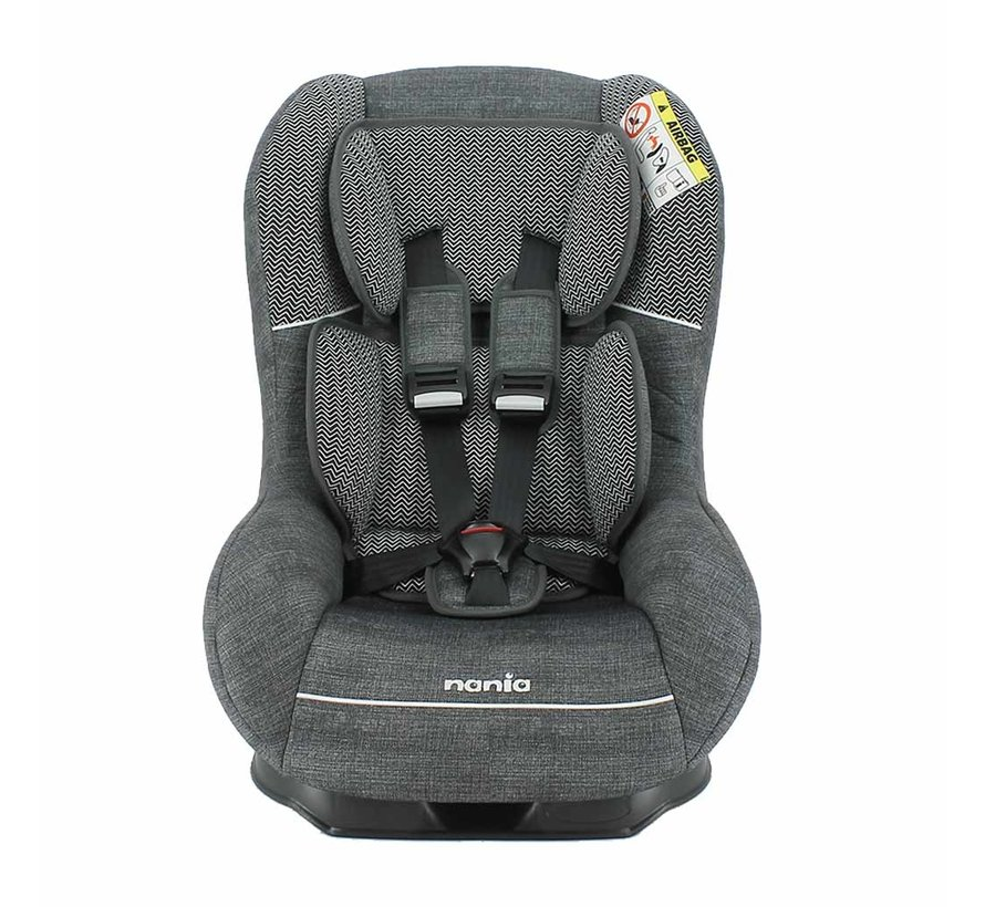 Baby car seat Driver - Group 0 and 1 - Zig Zag Dark Grey