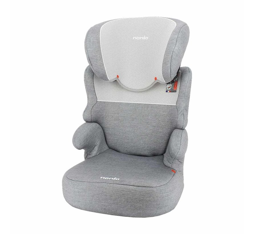 Car seat Befix - Highbackbooster Group 2 and 3 - Zig Zag Light Grey