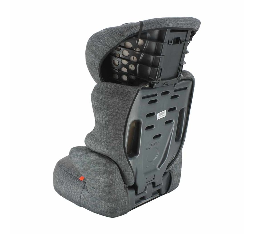 Car seat Befix - Highbackbooster Group 2 and 3 - Zig Zag Dark Grey