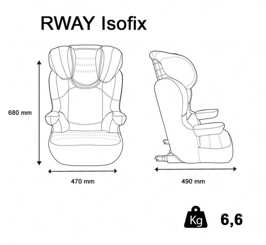 R-Way Easyfix - Isofix autostoel groep 2 en 3 - Tech Grey