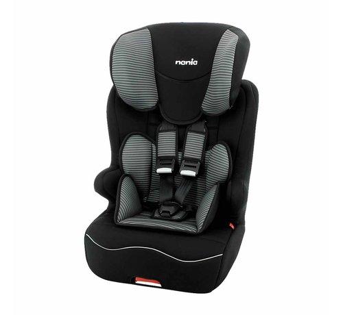 Nania Racer ISOFIX Tech Grey - Meegroei autostoel Groep 1 2 3 - Van 9 tot 36 kg