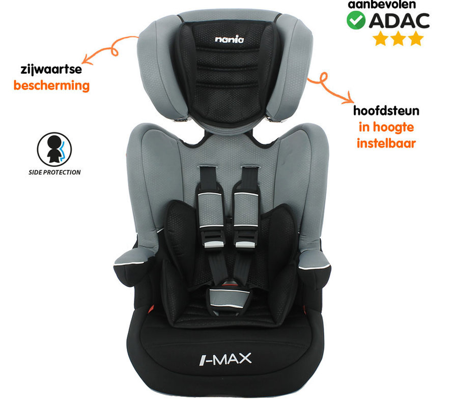 Highback booster i-Max Luxe Grey - Group 1/2/3 (9-36 KG)