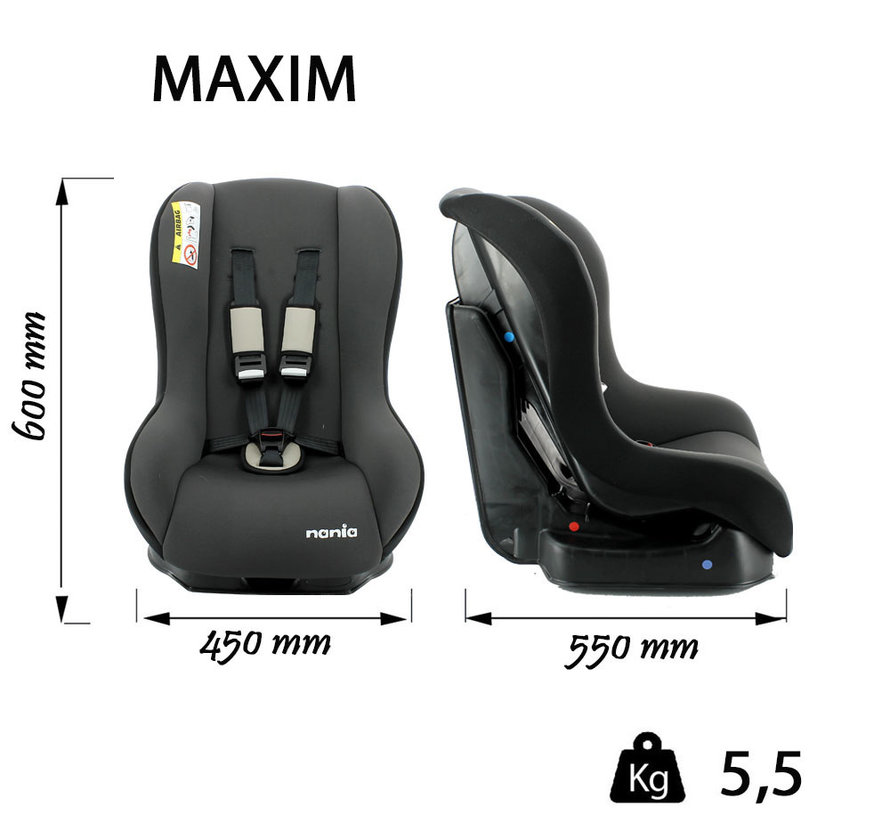 Car seat Maxim  ECO Shadow Grey - Group 0 and 1  (0-18 Kg)