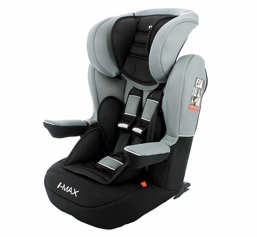 I-Max ISOFIX - Meegroei autostoel groep 1/2/3 - Luxe Grey