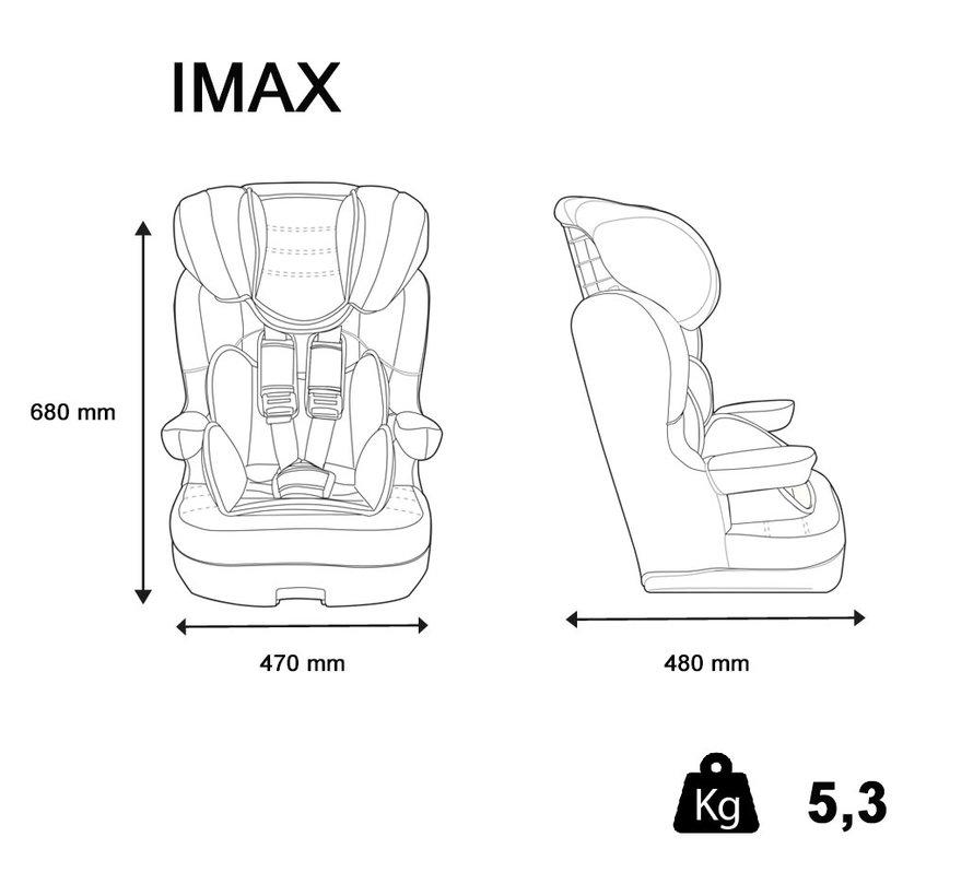 autostoel i-Max - Meegroei Autostoel Groep 1/2/3 - Luxe Pink