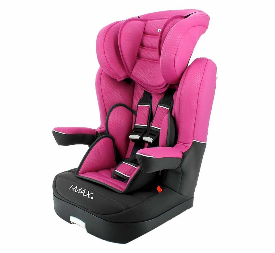 Highback booster i-Max Luxe Pink - Group 1/2/3 (9-36 KG)