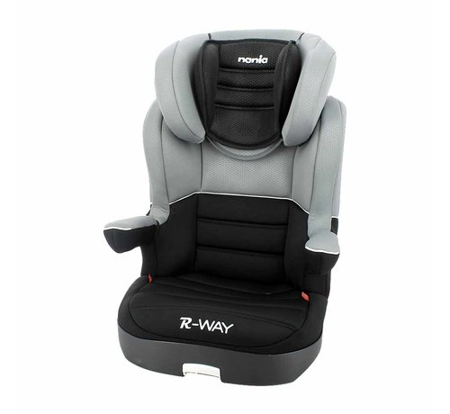 Nania Autostoel R-Way - Kinderautostoel - Groep 2 en 3 - Zwart, Grijs