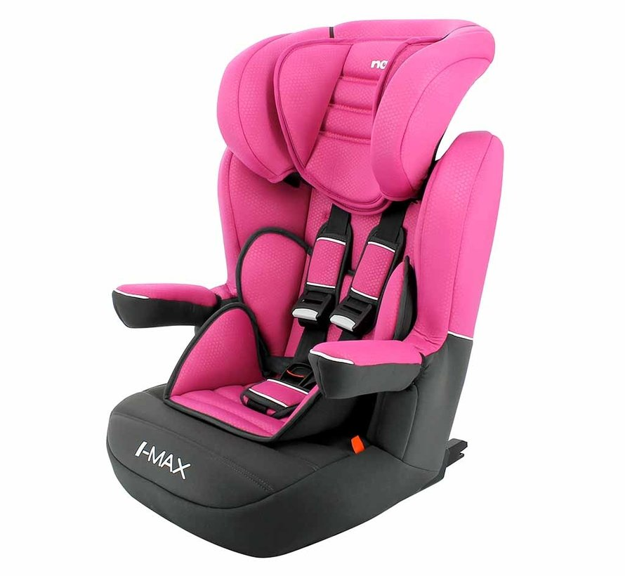 ISOFIX Highback booster I-Max Luxe Pink - Group 1/2/3 (9-36 KG)