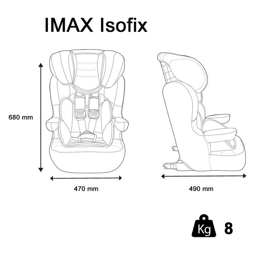 I-Max ISOFIX - Meegroei autostoel groep 1/2/3 - Luxe Pink