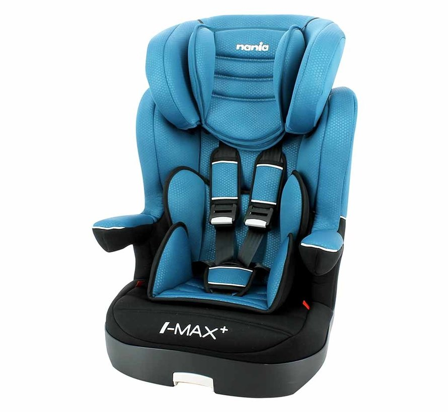 Highback booster i-Max Luxe Blue - Group 1/2/3 (9-36 KG)