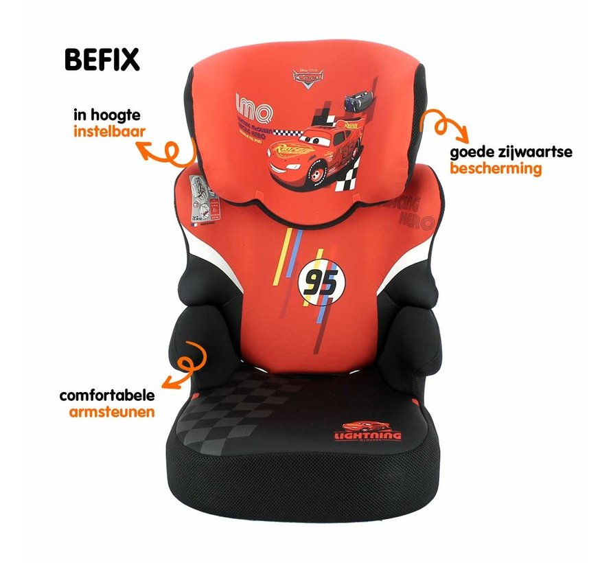 Car seat Befix - Highbackbooster Group 2 and 3 - Cars