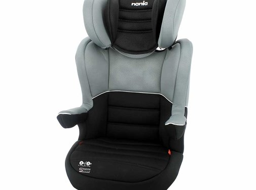 Nania Isofix Car seat R-Way - Highbackbooster Group 2 and 3 - Black, Grey