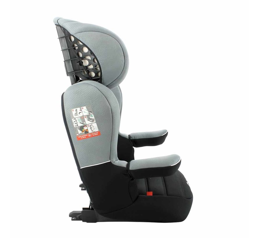 Isofix Car seat R-Way - Highbackbooster Group 2 and 3 - Black, Grey