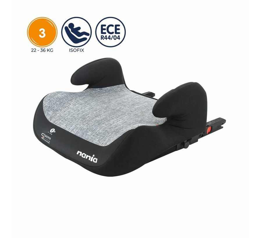 Isofix booster - TOPO Silver  - Group 3 - Grey