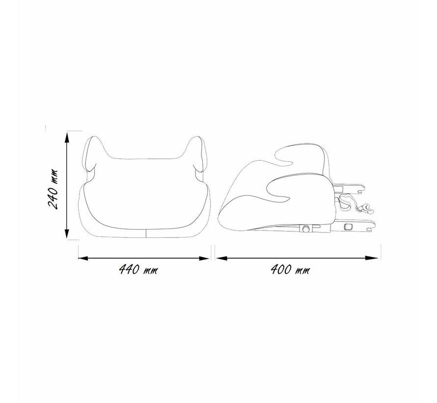 Isofix zitverhoger - TOPO Silver - Groep 3 - Grijs