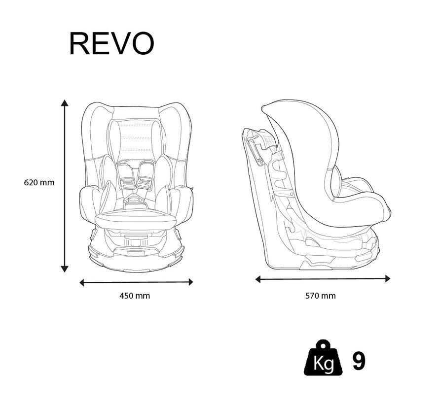 Revo 360° - Draaibare autostoel Groep 0/1/2 - Acces Pink