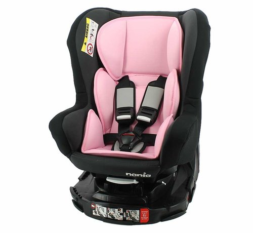 Nania Revo 360° - Draaibare autostoel Groep 0/1/2 - Acces Pink