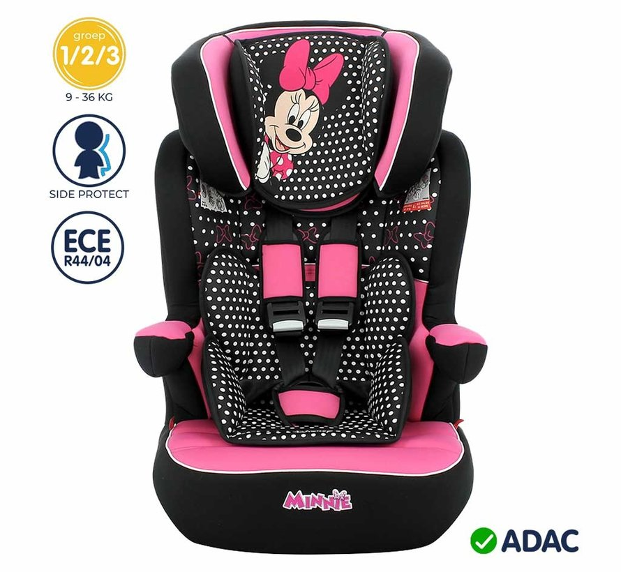Highback Booster iMax - 9 to 36 kg - group 1 2 3 - Minnie Mouse