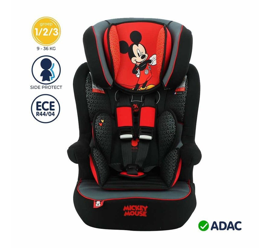 Highback Booster iMax - 9 to 36 kg - group 1 2 3 - Mickey Mouse