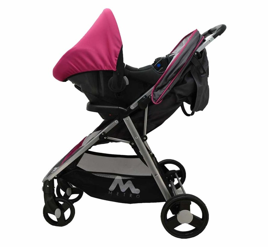 Stroller Metro - 2 in 1 - including car seat group 0+ - Pink