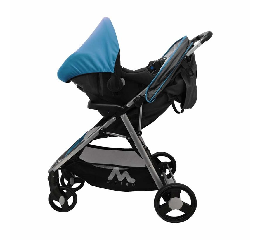 Stroller Metro - 2 in 1 - including car seat group 0+ - Blue