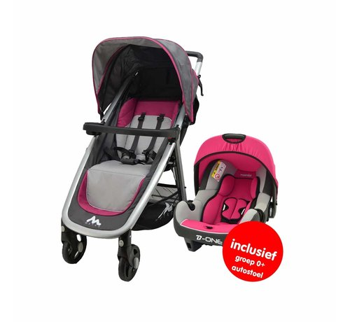 Nania Stroller Metro - 2 in 1 - including car seat group 0+ - Pink