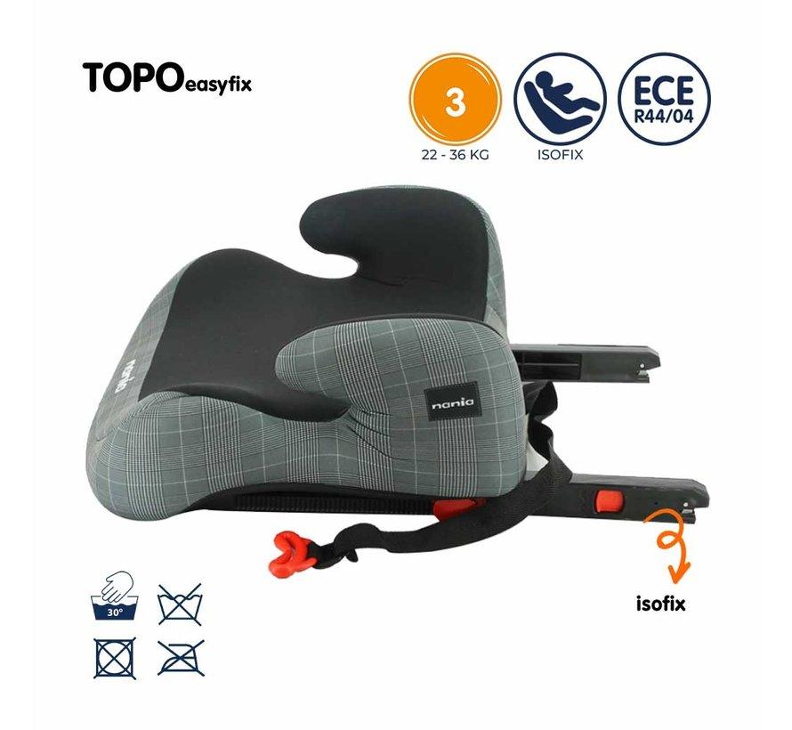 Isofix zitverhoger - TOPO easyfix - Groep 3 - Zwart/Grijs