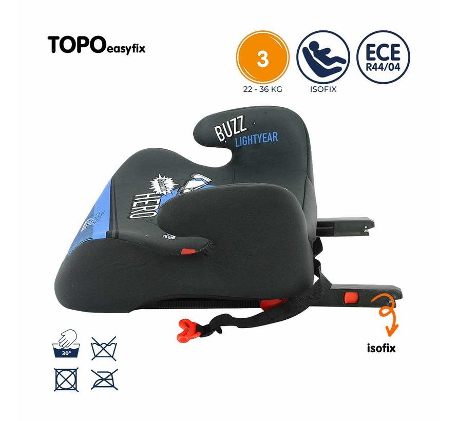 Isofix zitverhoger - TOPO easyfix - Groep 3 - Toy Story