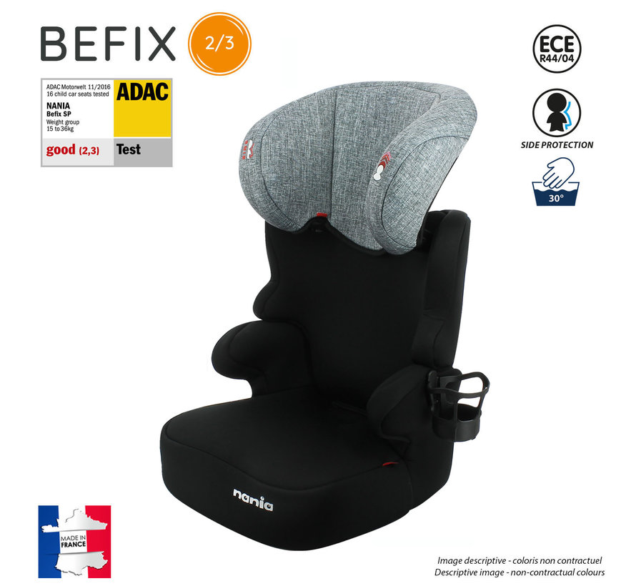 Car seat Befix - Highbackbooster Group 2 and 3 - Silver line