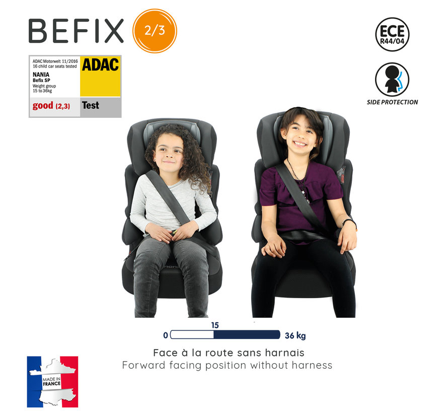 Autositze Befix - Kindersitze Gruppe 2 und 3 - Silver line