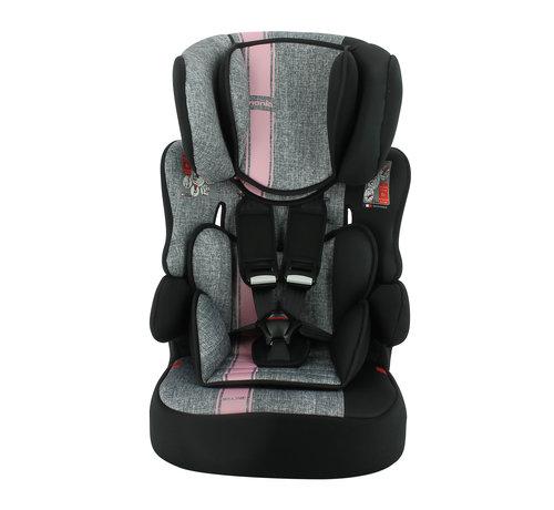 Nania Kinderautositz BeLine - Gruppe 1/2/3 (9-36 KG) - Linea Pink