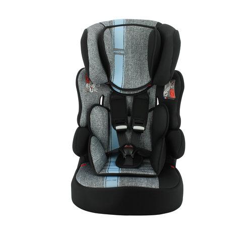 Nania Kinderautositz BeLine - Gruppe 1/2/3 (9-36 KG) - Linea Blue