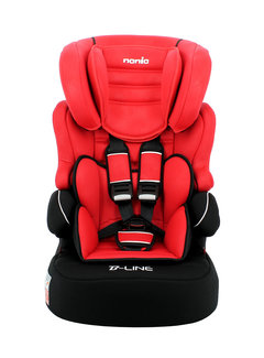 Nania Highback Booster Beline - Group 1/2/3 - Luxe Red