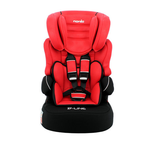 Nania Highback Booster Beline - Group 1/2/3 - 9 to 36 kg - Luxe Red