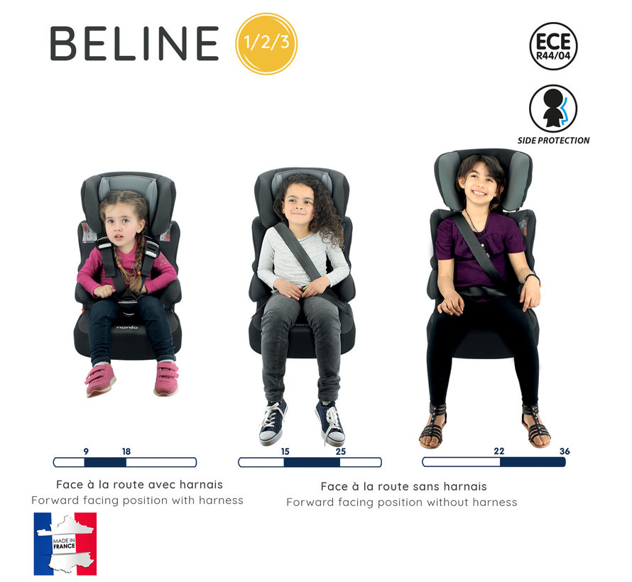 autostoel BeLine - Meegroei Autostoel Groep 1/2/3 - Iron Man