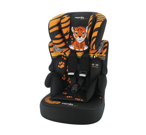 Nania Kinderautositz BeLine - Gruppe 1/2/3 (9-36 KG) - Animals Tiger