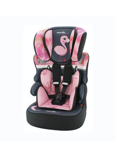 Nania Autostoel groep 1/2/3 - Beline Animals - Flamingo