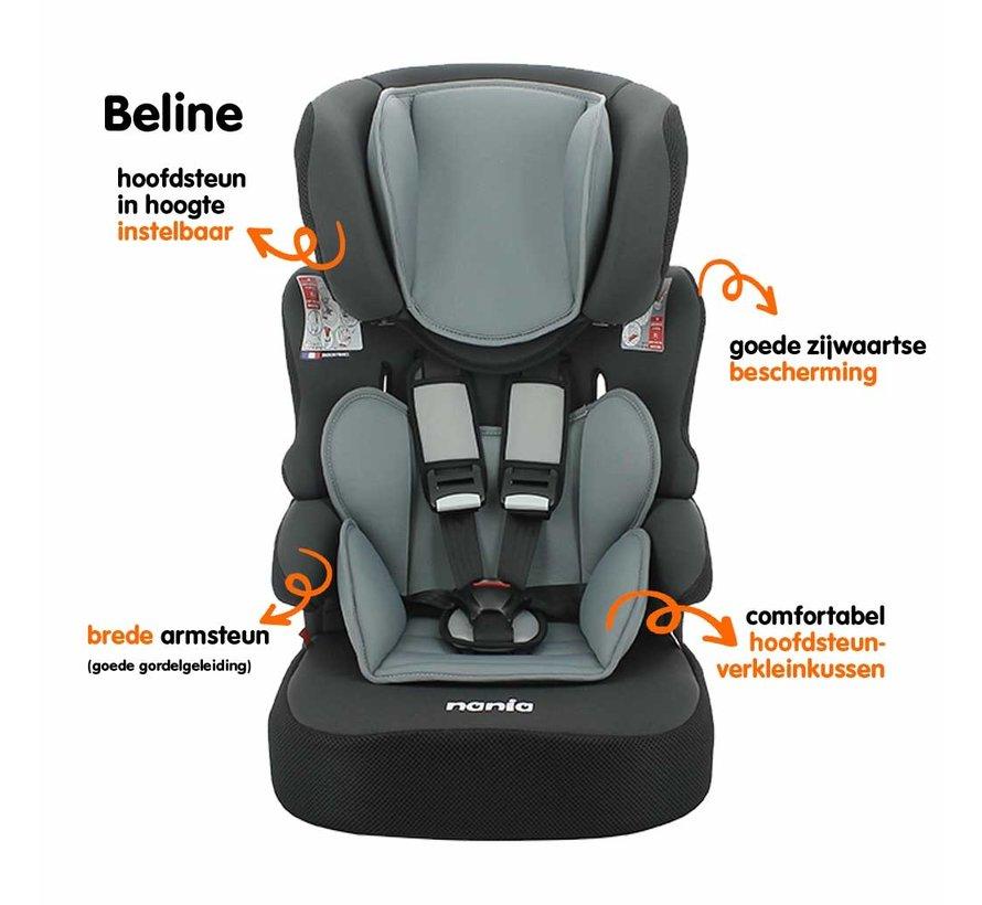 Beline - autostoel groep 1/2/3 - van 9 tot 36 kg - Luxe Red