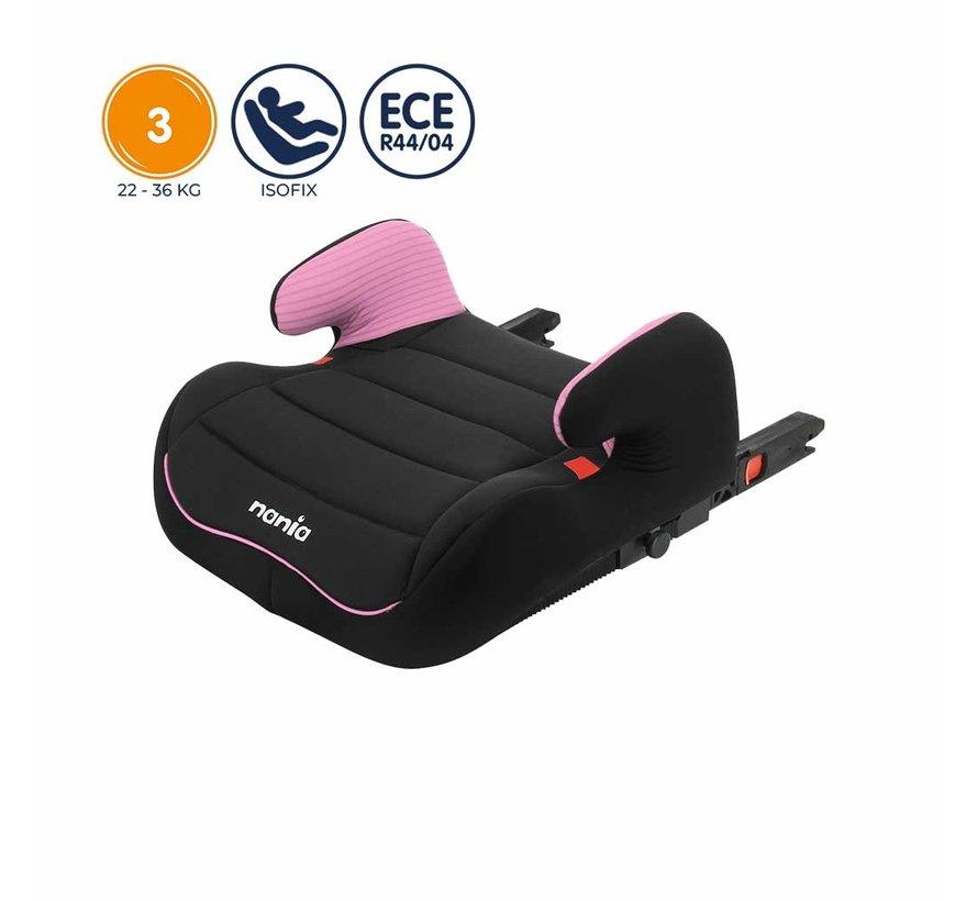 Isofix Sitzerhöhung - TOPO Easyfix - Gruppe 3 - Tech Pink