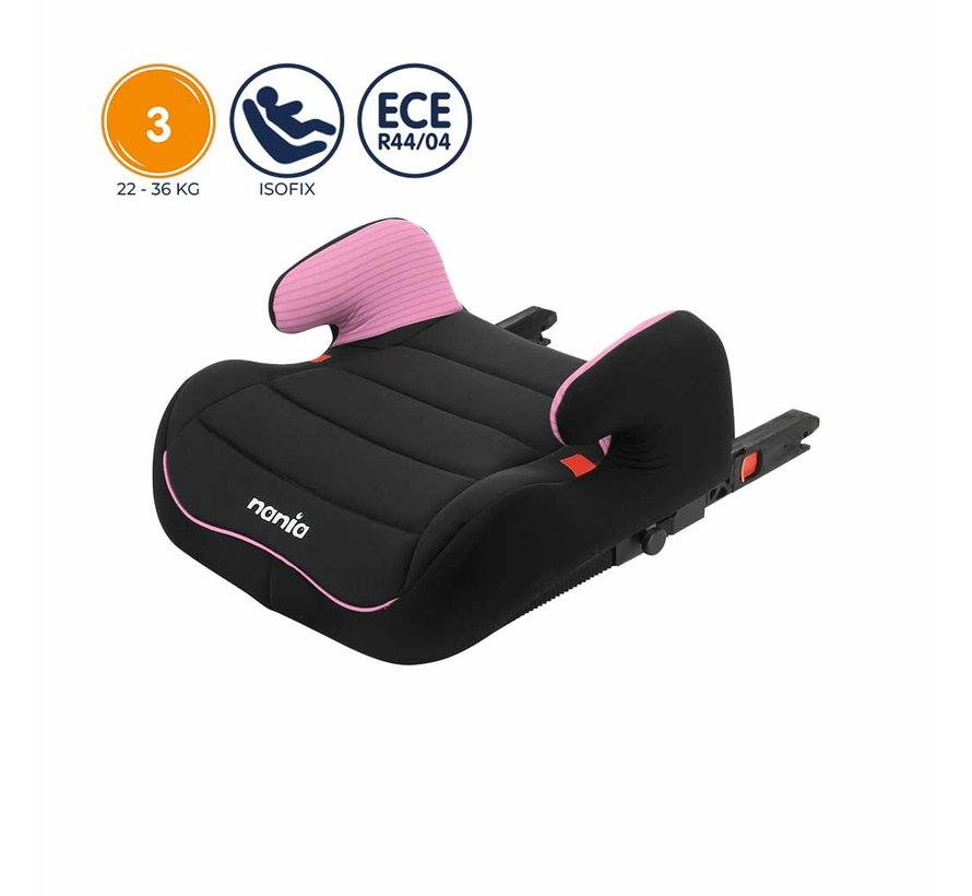 Isofix zitverhoger - TOPO Easyfix - Groep 3 - Tech Pink