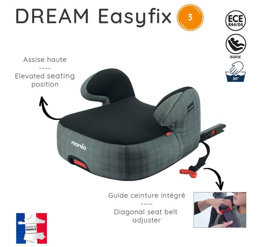 Isofix Sitzerhöhung - DREAM easyfix - Gruppe 3 - Schwartz/Grau