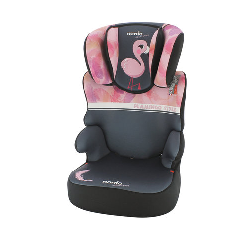 Nania Car seat Befix - Highbackbooster Group 2 and 3 - Flamingo