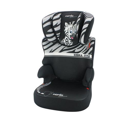 Nania autostoel groep 2 en 3 - Befix adventure - Zebra