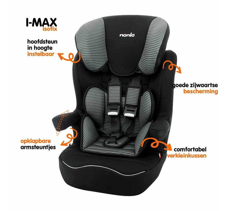 ISOFIX Highback booster - I-Max Tech Grey - Group 1/2/3 (9-36 KG)