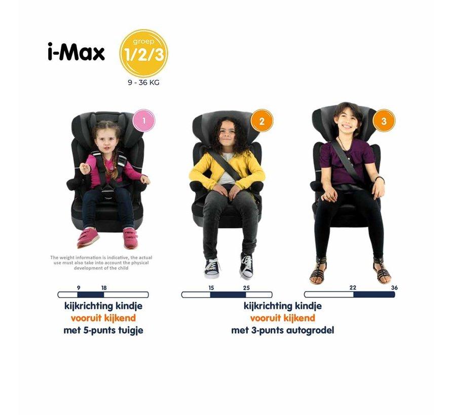 Kinderautositz i-Max - Gruppe 1/2/3 - 9 bis 36 KG - Access Grau
